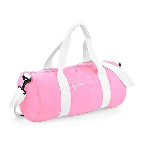 Fusto e Base-Borsone impermeabile, Borsa da viaggio Classic Pink/White