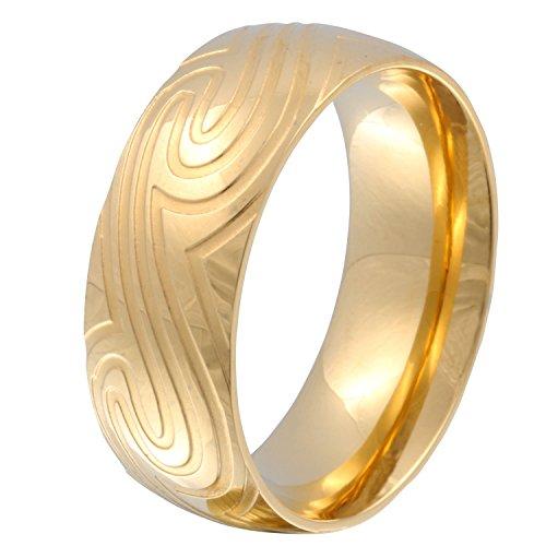 Juwelier Schönschmied - Herren Freundschaftsring Partnerring Trauring Golden Wave Edelstahl 64 (20.4) 128Hac