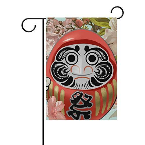 AMONKA Eine traditionelle japanische Puppe, Garten-Flagge, doppelseitig, Polyester, Hofflagge für Zuhause, Haus, Außendekoration, 30,5 x 45,7 cm, Polyester, Multi, 28x40 Inch