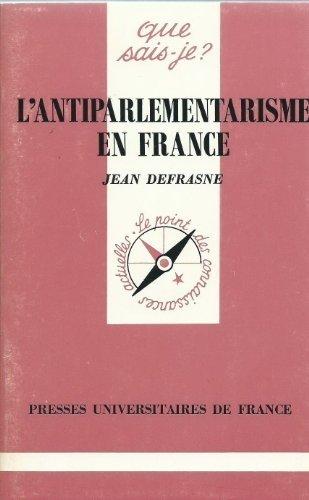 L'Antiparlementarisme en France