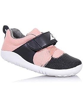 [Sponsorizzato]BOBUX - Scarpa grigia I-Walk Blaze in tessuto e pelle traspirante, estremamente flessibile, Bambina, Ragazza