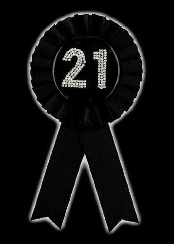 Rosette Badge 21 Black 21st Birthday Party Decoration Plates & Tableware Accessories etc...