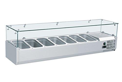 Zorro - Aufsatzkühlvitrine Kühl Aufsatzvitrine Kühltisch Aufsatz für Pizzakühltisch Saladette 1600/380 mm