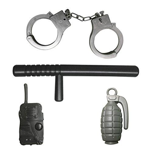 LUOEM Juego rol policía Juego accesorios juguete