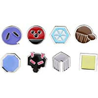 8Pcs/Box Pokemon Hall Roads Badge Brooch Pocket Monster Action Figures Metal Pin - Style C