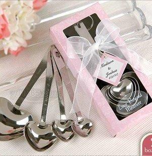 MEICHEN Cucina creativa ristorante gusto amore cuore a forma di cucchiaio 4 pezzo amore set in acciaio inox cucchiaio set da tavola