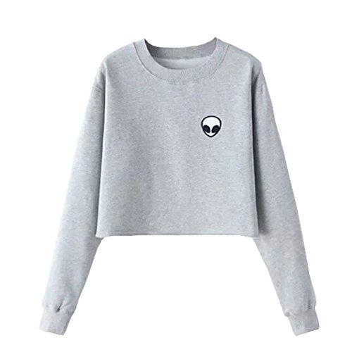Bling Stars Damen Sweatshirt schwarz schwarz S Gr. S, grau (Bling Hoodie Sweatshirt)