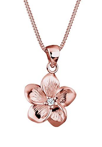 Elli Premium Damen-Kette mit Anhänger Blume Frangipani Blüte 925 Silber Diamant (0.03 ct)  Preisvergleich