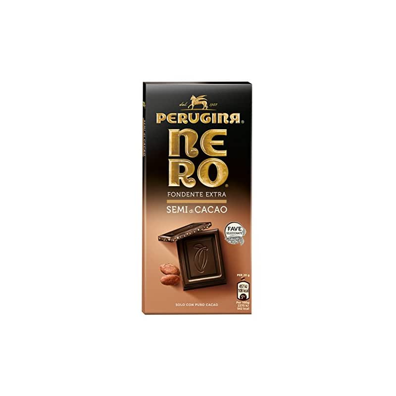 NERO PERUGINA Fondente Extra Semi di Cacao tavoletta di cioccolato fondente con semi di cacao