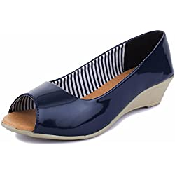 Trase Prisca Navy Blue Shoes for Women-8 IND/UK