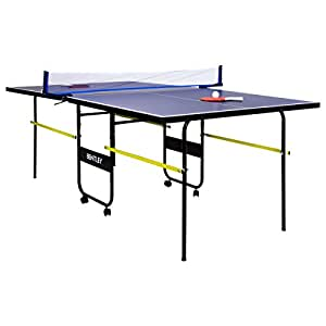 Table de ping-pong taille 3/4 pour enfant - bleu - 183 cm