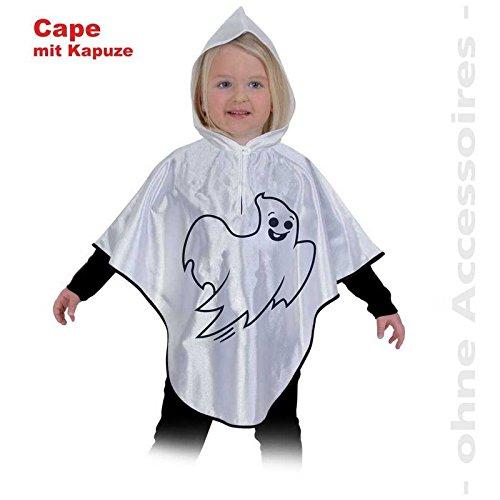 r- Kostüm kleiner Geist Umhang Überwurf Cape, Halloween: Größe: 098 (Kinder Geist Kostüme Halloween)