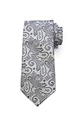 69th Avenue Mens Tie and Pocket Square(Grey)