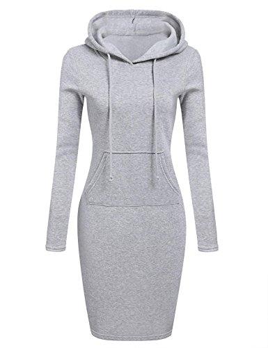 Strickkleid Pagacat Damen Sweatshirt Kleid Sportlich Pullover Kleid Bleistift Langarm Kleid Knielang