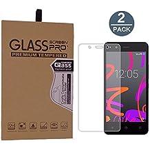 [2 Pack]BQ Aquaris M4.5 protector de pantalla,Protector de pantalla de vidrio templado para BQ Aquaris M4.5(Transparente,Dureza de Grado 9H, Espesor 0,26 mm,2.5D Round Edge)