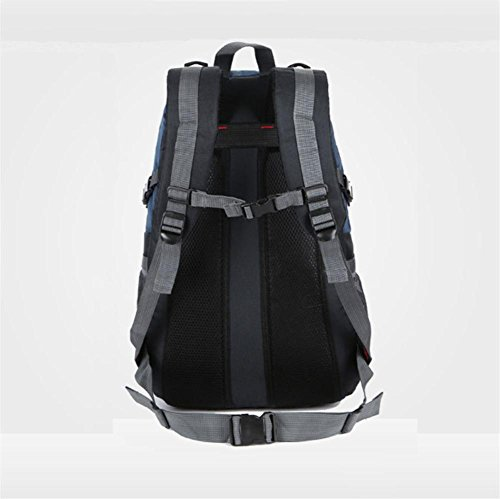 40L Outdoor Reise Bergsteigen Neutralen Rucksack Wasserdicht Camping Computer Tasche black