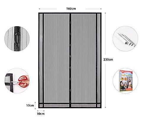 Sekey Rideau de porte magnétique anti-insectes, porte moustiquaire magnétique idéal