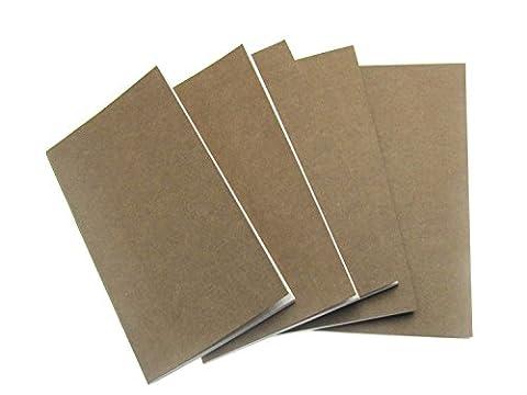Lot de 5Carnet de 19,1x 11,1cm DIY Papier Kraft Cahier