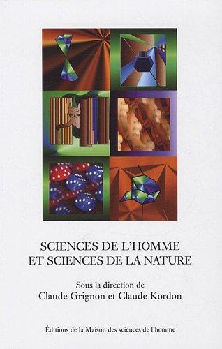 Sciences de l'homme et sciences de la nature : Essais d'épistémologie comparée par Claude Grignon