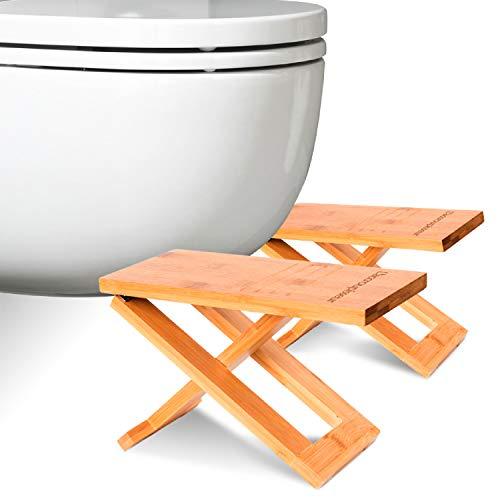 Physiologischer Toilettenhocker aus Bambus - Toilettenhocker aus Holz - Klapp- und Designfußstütze...