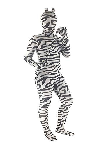 Zebra Kostüm Childrens - SK Studio Kinder Body Kostüm Childs Fancy Dress Costume Suit Zebra Halloween Kostüme Body Zebra Kids XS