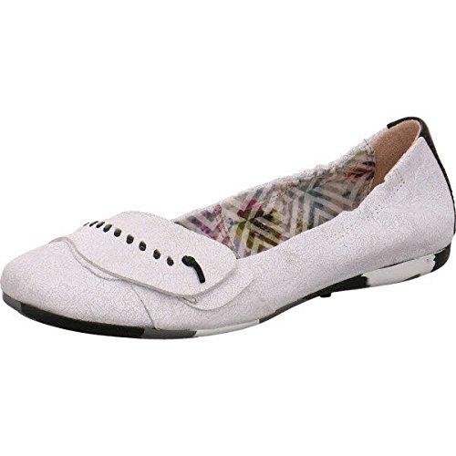 Martina Buraro S670853-0301-0001, Ballerine donna, (bianco+bianco+nero), 36 EU