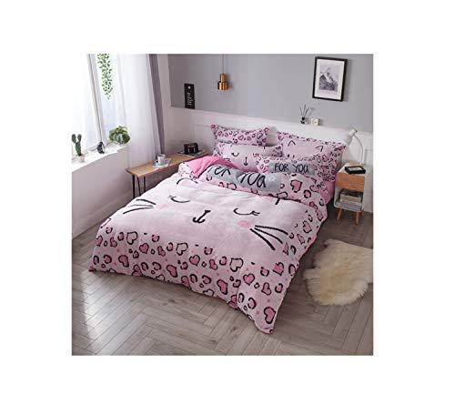 The Unbelievable Dream Bettbezug Flanell warme Bettwäsche Set Baumwolle waschbar einfache niedliche Kinder Kinder Erwachsene Tiere A