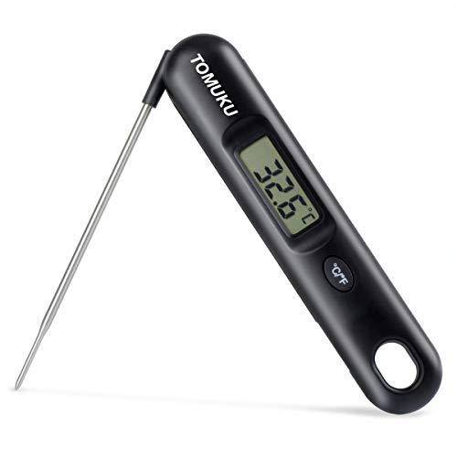 Termometri da carne tomuku termometro da cucina termometro per alimenti digitale multifunzione con lettura istantanea con sonda per cucina bbq, pollame, grill, pieghevole, batteria non inclusa
