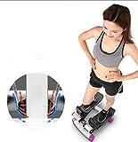 DYHQQ Aerobic Fitness Verstellbarer Stepper mit Seil, gesunde Fitness-Mini-Stepper-Maschine
