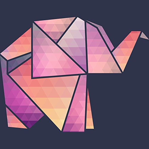 Origami Elephant Women's Graphic T-Shirt - Design By Humans Navy