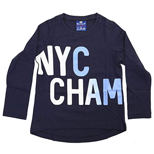 Champion G-T Shirt AUTH. Cotton Jersey Graphic, blau, X-Small -