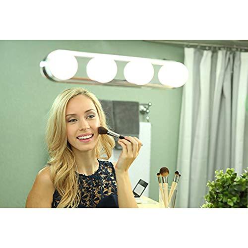 Portable LED Mirror Light Vanity Lights Studio Suction Cup Makeup Light 4 LED Bulbs Cosmetic Mirror Light -