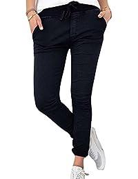 Mujer Pantalones Lápiz - Color Sólido Cintura Elástico Pantalón con Cordón Moda Cintura Alta Bolsillos Casual Capris Pies Estrechos Leggings Pantalones Tallas Grandes