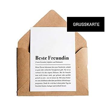 Beste Freundin Definition: Grußkarte mit Umschlag