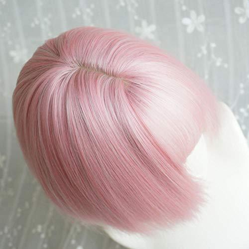 Kostüm Machen Besen - Perücke Mädchen Besen Kopf Kurzes Haar Qi Liu Hai Viermal Fluffy Peach Powder Kurzes glattes Haar @ Lolly Powder