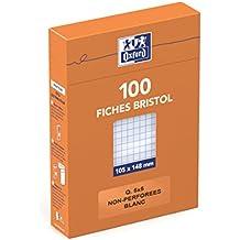 Oxford  23402009  Lot de 100 fiche bristol 105X148  Q.5x5