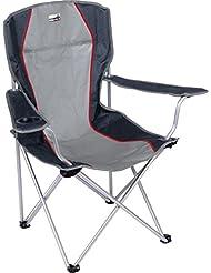 High Peak Salou Chaise de camping pliante Gris Clair/Gris Foncé 54 x 43,5 x 41 cm