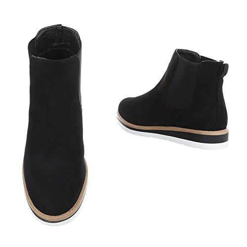 Ital-design Chelsea Boots Scarpe Da Donna Chelsea Boots Moderno Stivaletti Nero H947