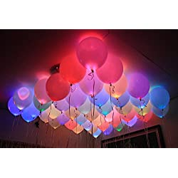 Gifts Online 50 LED Balloons Pack for Party Festival Diwali Christmas New Years Celebrations