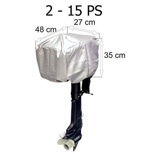 Motorabdeckung Persenning für Außenborder 2 - 15 PS 48 x 27 x 35 cm (Persenning Außenborder)