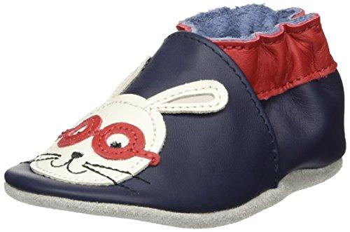 Robeez Baby Jungen Smart Rabbit Krabbel-& Hausschuhe Blau (Marine)