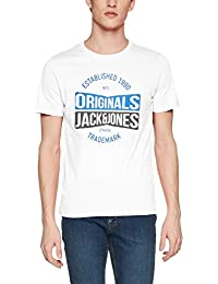 JACK & JONES Jormusai Tee SS Crew Neck, Camiseta Para Hombre