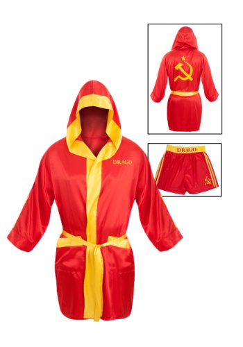 Preisvergleich Produktbild Rocky Balboa Erwachsene rot Ivan Drago Satin Robe And Short Set