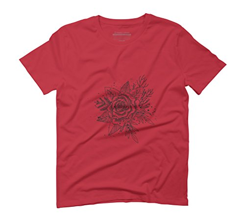 Forest in Ink Men's Graphic T-Shirt - Design By Humans Red