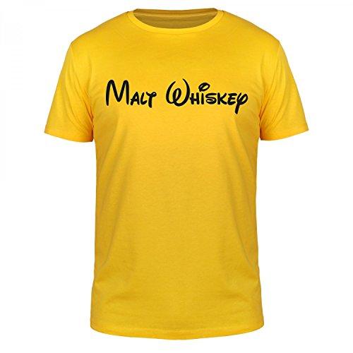 FABTEE - Malt Whiskey - Herren T-Shirt verschiedene Farben, Größen S-5XL Gelb