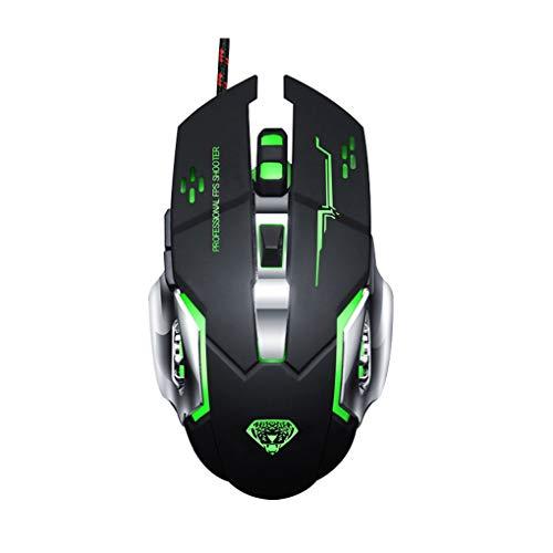 chunyang G502 USB Wired Mouse Computer-Gaming Mäuse Einstellbare 3200DPI Breathing Licht Optische PC Desktop Spiel Mäuse (Windows-usb-installer)