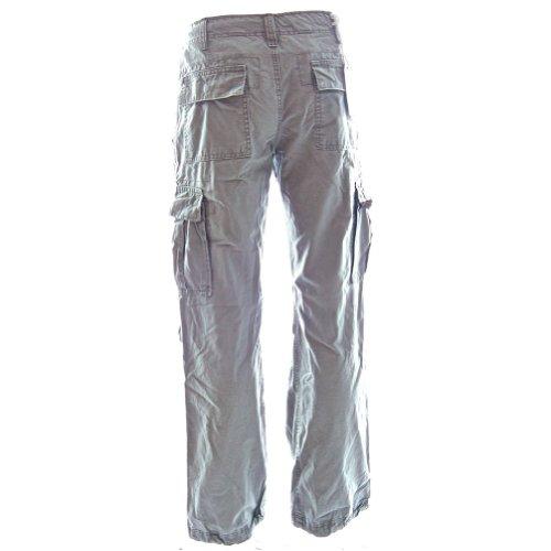Pantaloni Cargo Da Donna Da Escursionismo Con Passanti 45038 - Qualità Eccellente Pantaloni da Combattimento da Donna, 100% Cotone Resistenti Fatti per Durare Grigio Tramonto