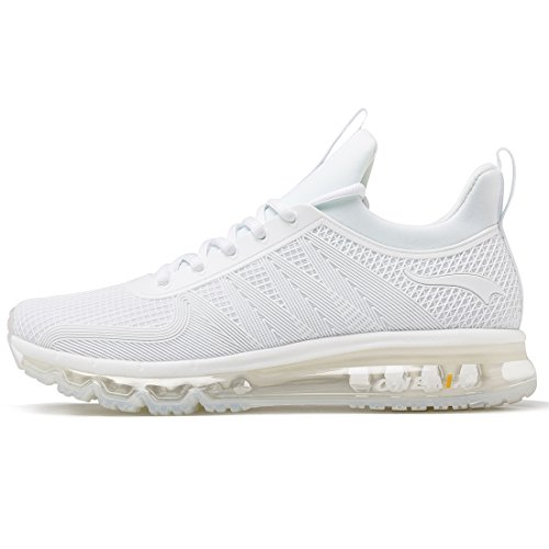 ONEMIX Air Uomo Scarpe da Corsa Sportive Basse Running Sport Sneaker Bianco 45