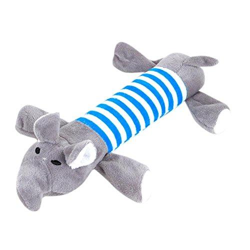 Haustier Plüsch quietschende Spielzeuge Pet Puppy Katzen Hunde Gestreiftes Schwein, Gestreifter Elefant, Gestreifte Ente Molar Biss Beständigkeit Spielzeug