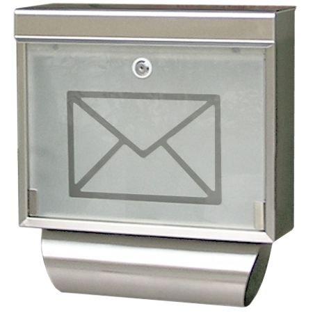 Edelstahl 4fach Standbriefkasten, Briefkastenanlage - 3